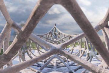 canoa de hormigón y encofrado 3d