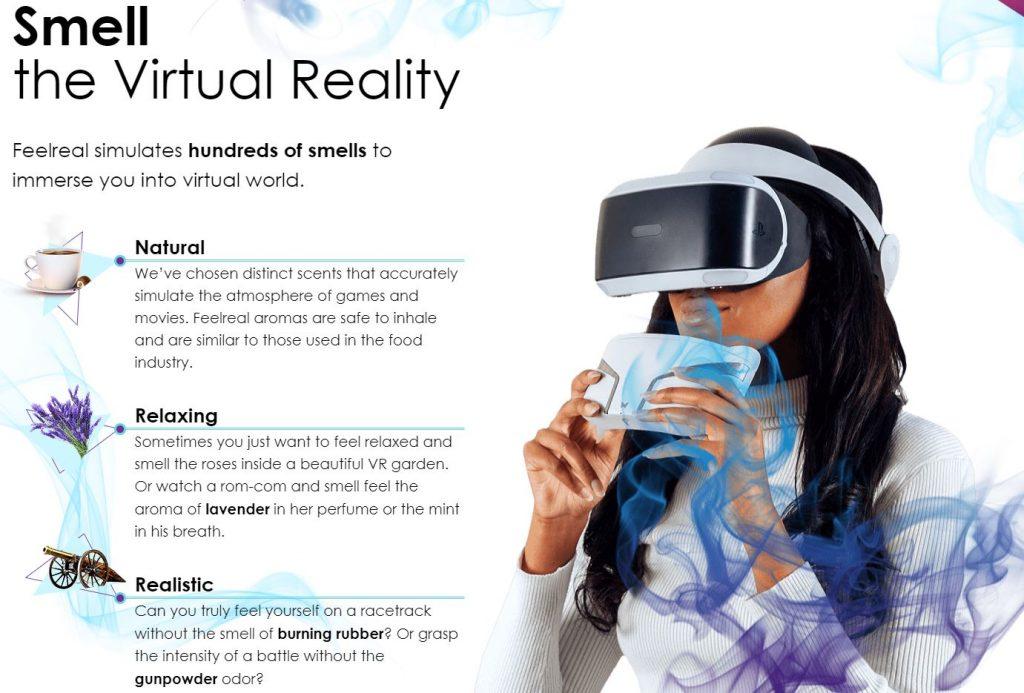 Máscara FeelReal para percibir olores y sensaciones mediante gafas de Realidad Virtual